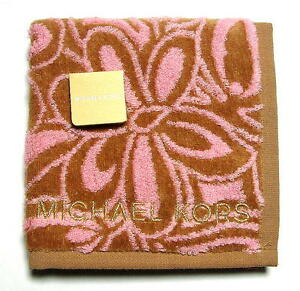 MICHAEL KORS Towel Handkerchief Mini Towel Beige Flower Cotton Auth New Licensed