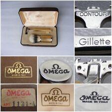 Shaving Set Vintage OMEGA ITALY 1989 Gillette ATRA J4 Safety Razor & Brush w/Box