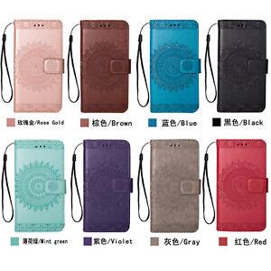 Flip Case PU Leder Handy Tasche Kartenfach Wallet Hülle Für iPhone X Samsung S9+
