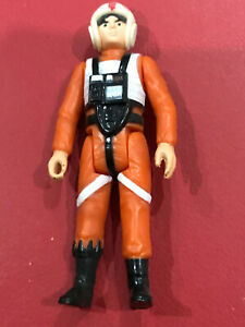 Rare Luke Skywalker X-Wing Pilot Blank Bar No COO Vintage Star Wars Figure!