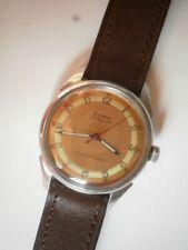 Cyma men's bumper military steel two tone dial Cal.420 K vintage wrist watch