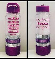 Glitter Water Bottle Metallic Purple Slimming World Diet Weight Watchers Healthy