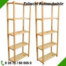 2er Set Regal 170cm x 65cm x 28cm Holz für Ordner Akten Bücher Schuhe Archiv N1