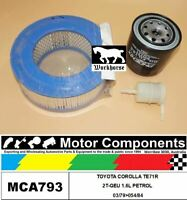 FILTER SERVICE KIT FOR TOYOTA COROLLA TE71R 2T-GEU 1.6L PETROL 03/79>054/84
