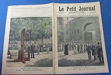 Le petit journal 1891 37 exécution de doré et berland / la guillotine