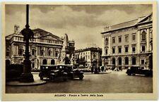 Cartolina Formato Piccolo - Milano - Piazza E Teatro Della Scala Non Viaggiata