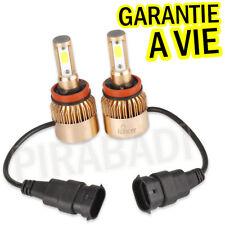 KIT LAMPADINE A LED H11 H8 H9 6000K BIANCO PER 100W AUTO MOTO 10000 LUMEN