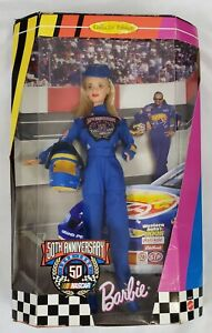 Vintage Barbie Doll 50th Anniversary NASCAR Blonde Collector Edition #20442 1998
