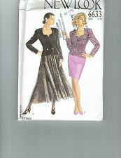 NEW LOOK 6633 pattern  suit skirt jacket cocktail business Sz 6 8 10 12 14 16