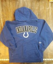 Kids Reebok Indianapolis Colts Hooded Sweatshirt Football Hoodie Sz Small S