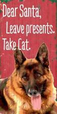 New listing Pet Dog Sign German Shepherd - Dear Santa Leave Presents -Wood Wall House Poster
