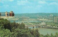 Mt Washington Pennsylvania~Onlookers View City~1960s Postcard