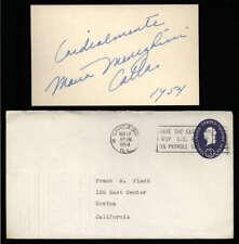 "Maria Meneghini Callas D.1977 Soprano Signed 3"" x 5"" Index Card"