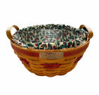 Longaberger Christmas Collection 1999 Edition Popcorn Basket with Liner