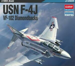 "Academy 12323 1/48 USN F-4J ""VF-102 Diamondbacks"" Plastic Model Kit"