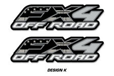 """FX4 Off Road Truck Bed Decal Set For Ford F150 Raptor Stickers 15""""X4"""" SUBDUED"""