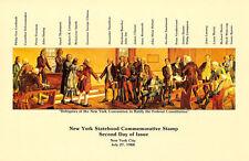 #2346 2nd Day Program 25c New York Statehood Stamp