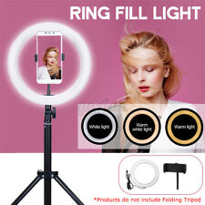 10'' LED Dimmable Ring Fill Light Lamp Video USB Selfie Camera Phone Photography