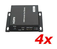 4 Pack - HDMI Extender RX Receiver Over TCP IP via CAT5e 6 RJ45 Network Ethernet