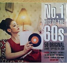 2CD NEW SEALED - No.1 HITS OF THE 60's - Pop 60s Music 2x CD Album - 50 Songs