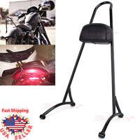 Sissy Bar Passenger Backrest Back Rest For Harley Sportster 883 1200 XL 04-16