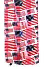SCARF White Background Navy Blue & Red Patriotic STARS & STRIPES FLAGS