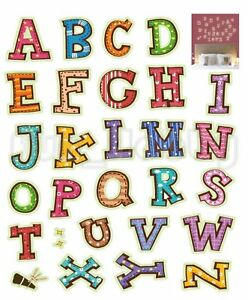 Glow Stickers English Alphabet Glow In The Dark Stickers Cute English Letters