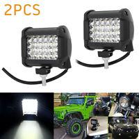 2x 4pouces CREE LED Barre lumière travail 200W Flood Combo Conduite Lampes BR