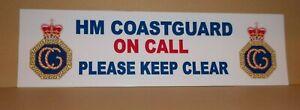 HM Coastguard Rescue Team Personnel 7cm x  25cm  vinyl sticker..