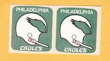 2 ORIGINAL PHILADELPHIA EAGLES 1 BAR HELMET DECALS STICKERS from SEALED 1971 PKG