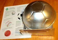 """Wilton: 3D Soccer Ball Cake Pan #2105-2044 Guc + Instructions 2001 - 9"""" by 11"""""""