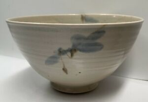 Vintage Victor Greenaway Large Bowl With Flower Design Made in Broomhill studios