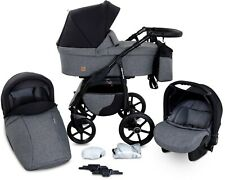 Boston 3 in 1 Kombi Kinderwagen Liegewanne Autositz Buggy