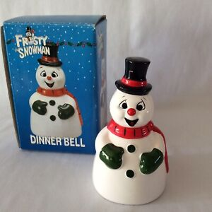 Vintage Christmas Frosty the Snowman Dinner Bell NEW 1990