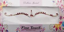 Bindi rouge bijoux de peau mariage autoadhesif strass front sourcils 2619