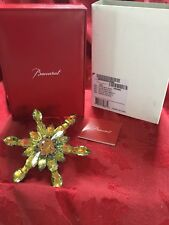 NIB FLAWLESS Exquisite BACCARAT Crystal 2013 Gold SNOWFLAKE Christmas ORNAMENT