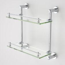 Double Glass Shelf 8MM Tempered Glass Shower Bathroom Glass Shelf
