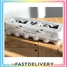 25 Egg Cartons Adorable Printed New Vintage Design For Farm Fresh Eggs Recycled