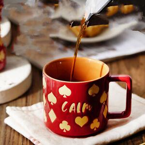 """Love"" Ceramic Mugs Cups with Lid Spoon Lovers Wedding Milk Coffee Mug Drinkware"