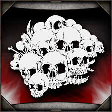 Skull Background 10 -  Airbrush Stencil Template Airsick
