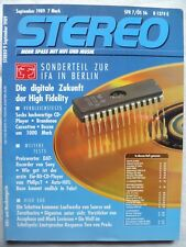 Stéréo 9/89, SONY DTC 300es, Proac Response Two, accuphase C 280 L, D 500 L, ATL 711pro