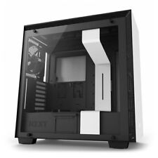 NZXT H700 Matte White Mid Tower Case Tempered Glass Window
