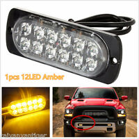 1PC Ultra Slim 12 LED Strobe Warning Light Car Truck Surface Mount Flash Lamp US