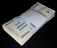 100 x 50 Million Dollars Zimbabwe Banknotes AA 2008 Bundle [100PCS] Currency Lot