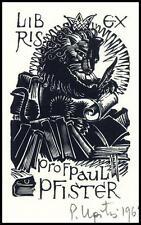 Upitis Peteris 1967 Exlibris X2 Bookplate Lion Leo Löwe Cat Animals 103
