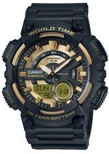 Casio AEQ-110BW-9A Black Gold World Time Analog Digital Watch AEQ110 COD Paypal