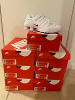 Nike Shox NZ EU Low Mens Running Shoes White Black 501524-106 NEW 10.5-12