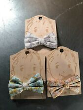 Lot of 3 Milkbarn Linen/Cotton Multi-Color Bow Ties- NWT