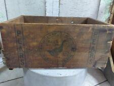 Rare Vintage Blue Goose Wooden Pear Crate Farm Fresh Estate Find