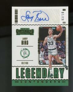 2020 Panini Contenders Legendary Larry Bird 3/10 Auto Autograph